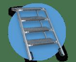 Accessoires de carrosserie - Escabeau aluminium