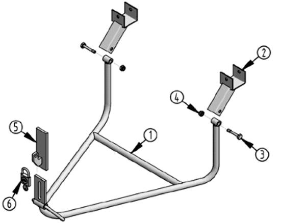 Vue éclatée supports de roues pour MB Sprinter dès 2007