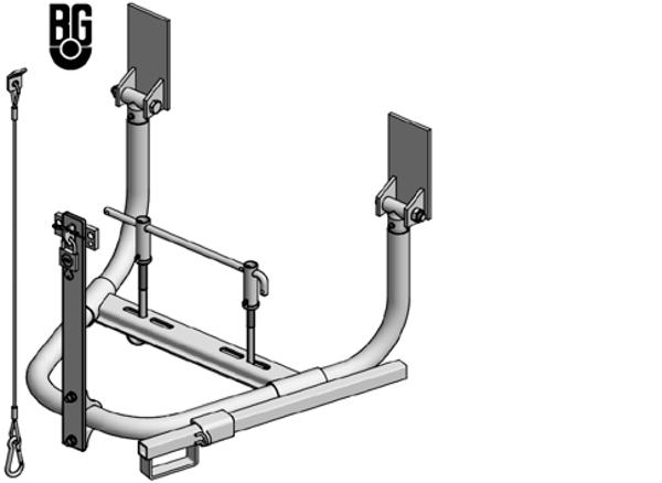 Vue éclatée supports de roues Ø48.3