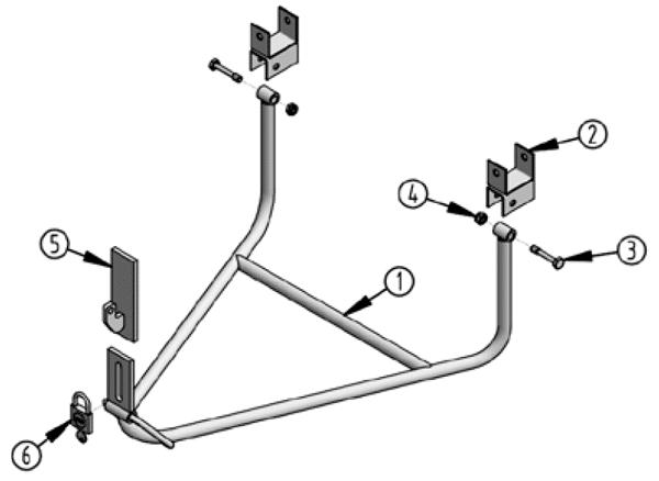 Vue éclatée supports de roues standard