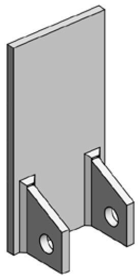 Accessoires de supports de roue - Plaque de fixation arrière