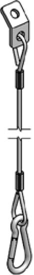 Accessoires de supports de roue - Câble de sécurité