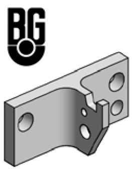 Accessoires de supports de roue - Plaque avec crochet