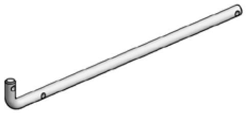 Accessoires de supports de roue - Tige