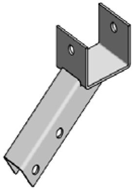 Accessoires de supports de roue - Support de fixation arrière