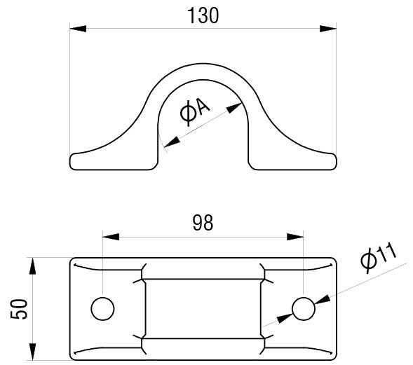 Schéma accessoires de supports de roue - Bride