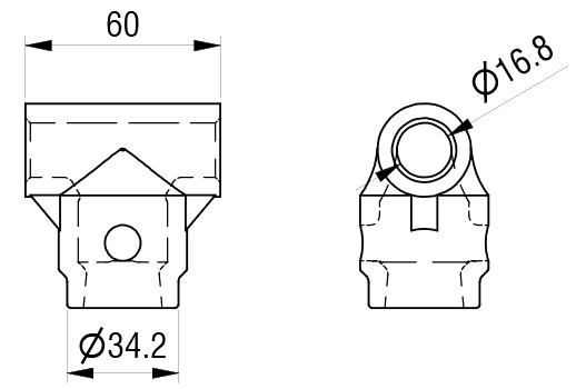 Schéma accessoires de supports de roue - Douille d'axe
