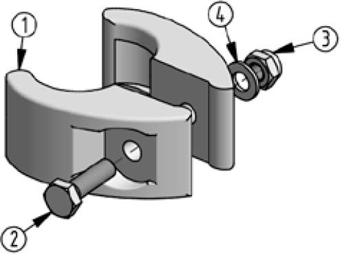 Accessoires de supports de roue - Élément de réglage pour support de roue de secours